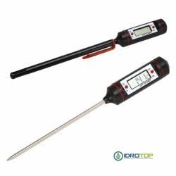 Termometro WT-1 Digitale a Penna con Sonda in Acciaio Inox-Idrotop