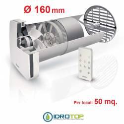 Recuperatore di Calore ASPIRVELO Air Ecocomfort 160 RF Fantini Cosmi+Radiocomando