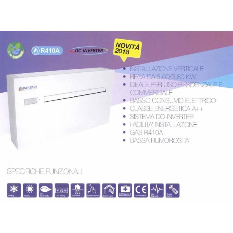 Climatizzatore acqua aria senza unit esterna pompa di calore parkair - Condizionatori ad acqua senza unita esterna ...