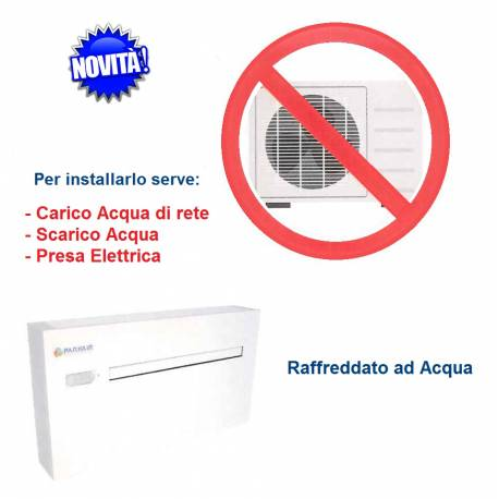 Climatizzatore Acqua/Aria 1200 Btu/h Senza Unità Esterna-Pompa di Calore Parkair