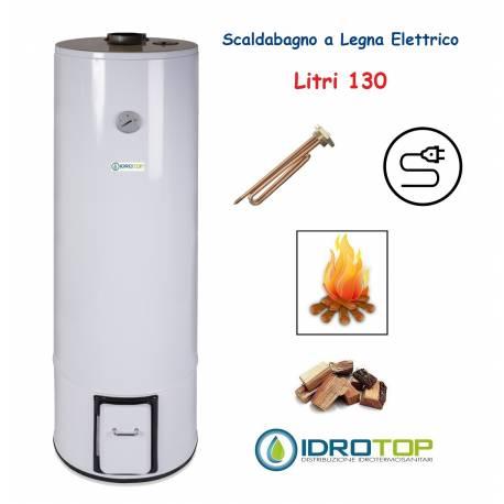 Scaldabagno a Legna Elettrico LT 130 Scaldacqua Coibentato in Lana Vetro
