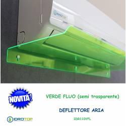 Deflettore Aria Condizionatori e Split 110cm VERDE FLUO- Protezione aria Climatizzatori Idrotop