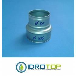 Manguito Reducción 100/80 para las tuberías flexibles y rígidas aire caliente y frío
