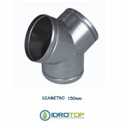 Y junction diam. 150 mm. distributor for hot / cold air and ventilation