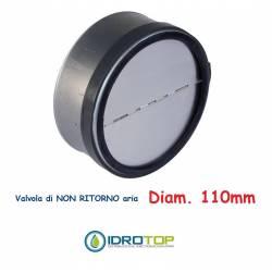 Soupape d.110 de non-retour air pour tubes flexibles et rigides d'air chaud et froid
