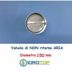 Non-return air valve d. 150 for flexible and rigid pipes hot and cold air