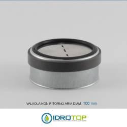 Valvola d.100 NON RITORNO ARIA per le Tubazioni flessibili e rigide Aria Calda e Fredda