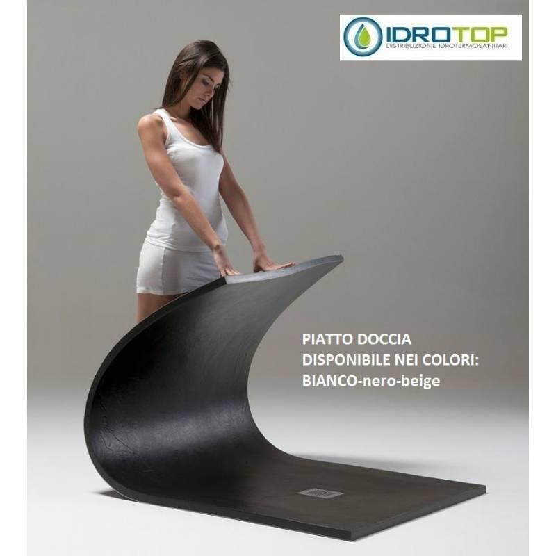 Piatto rettangolare soft 70x70 colore nero