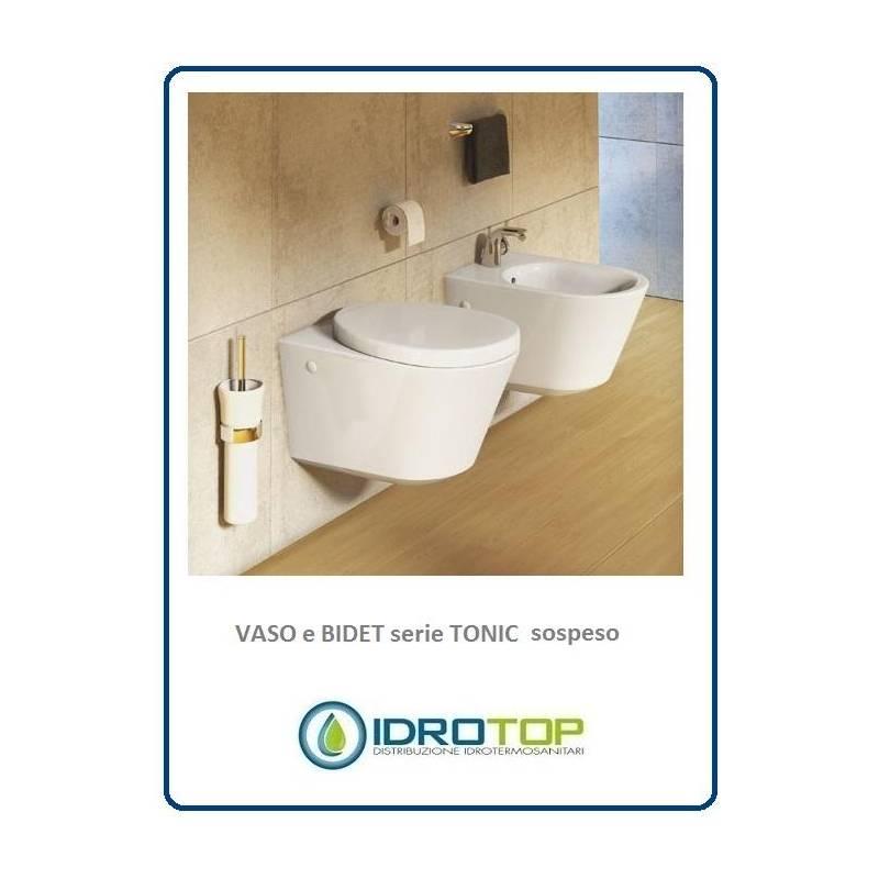 Vaso sospeso compreso di sedile serie tonic ideal standard for Vaso sospeso