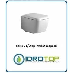 Vaso Sospeso Mod. 21/STEP Ideal Standard con sedile Bianco Euro