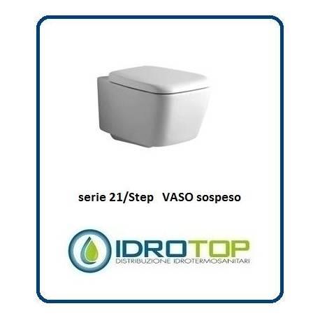 Vaso sospeso mod 21 step ideal standard con sedile bianco - Vaso ideal standard serie 21 ...