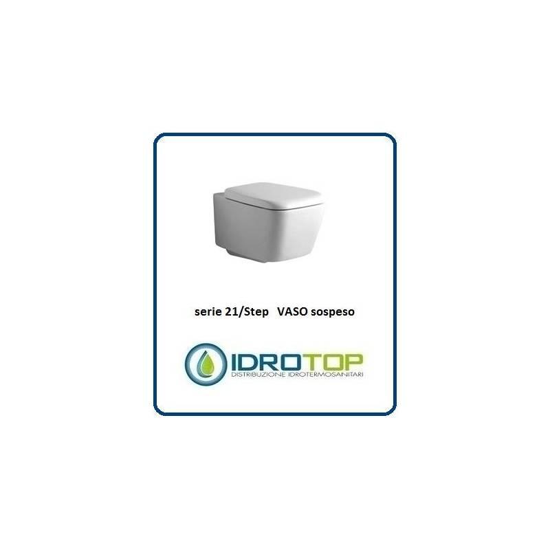 Vaso sospeso mod 21 step ideal standard con sedile bianco for Vaso sospeso