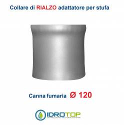 Collare di Rialzo diam.120 Scalda Acqua-per Soprastufa per canna fumaria Ø 120