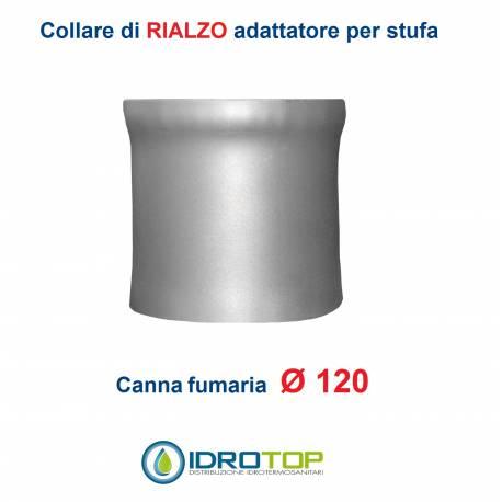 Collare di Rialzo diam.120 per Scalda Acqua-per Soprastufa per canna fumaria Ø 120