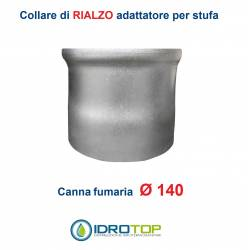 Collare di Rialzo diam.140 Scalda Acqua-per Soprastufa per canna fumaria Ø 140