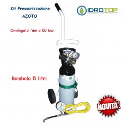 Kit Azoto Pressurizzazione Impianti Industriali Condizionamento con Carrello