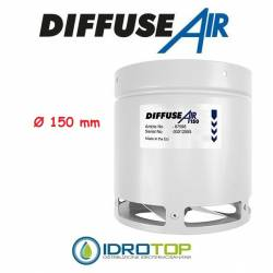 DiffuseAir Ø150 Diffusore per Ventilazione e Coltivazioni in Ambienti Chiusi-Idroponica
