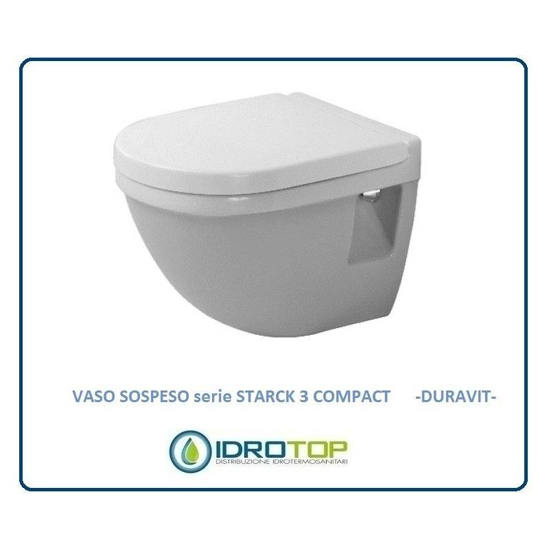 Vaso sospeso starck 3 compact compreso di sedile cod for Vaso sospeso