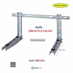 Staffa Regolabile ZINCATA A CALDO cm 52 per Climatizzatore portata 160 Kg.