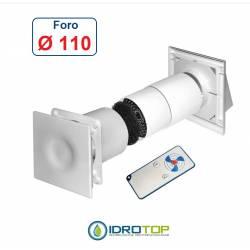 Recuperatore di Calore M50I a flusso Alternato da Incasso+Telecomando.Foro 110mm