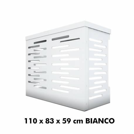 Jimmy Copri Climatizzatore/Condizionatore BIANCO per Unità Esterna L1100xH830xP590 in Alluminio Composito