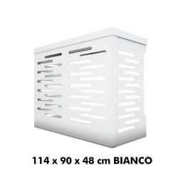 Jimmy Copri Climatizzatore/Condizionatore BIANCO Unità Esterna L1140xH900xP480   in Alluminio Composito