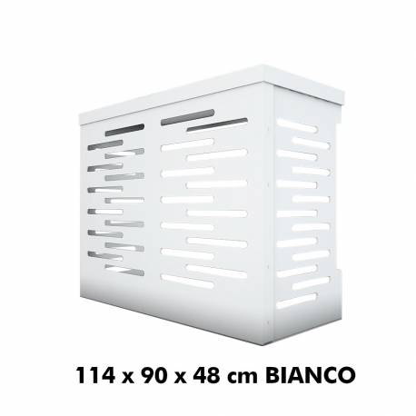 Jimmy Copri Climatizzatore/Condizionatore BIANCO per Unità Esterna L1140xH900xP480 in Alluminio Composito