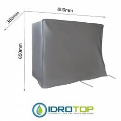 Telo Cappottina 800x650x350 mm per Condizionatore Protezione Unità Esterna