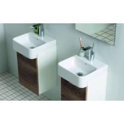 Lavabo 45X35 MINI con MOBILE SOSPESO, lavabo Ceramica, apertura dx QUATTRO COLORAZIONI  Colavene