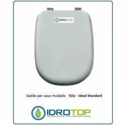 Copriwater Ideal Standard  TESI BIANCO EURO Cerniera Rallentata Soft Close Cromo-Sedile-Asse Wc