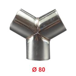 Raccordo a Y diam. 80 mm.Distributore per Aria Calda, Fredda e Ventilazione