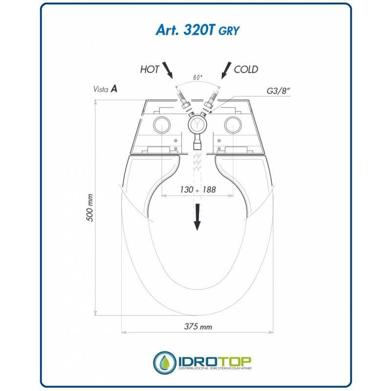 Copriwater bidet sedile con funzione bidet - Misure water e bidet ...