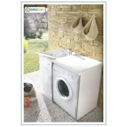 Lavatoio per ESTERNI Colajanni Ideale per Interni Vasca in Plastica e Struttura in Alluminio