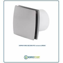Aspiratore Diam.100 GRIGIO Decorativo Elettrico per Bagni e Locali Chiusi.Compatto