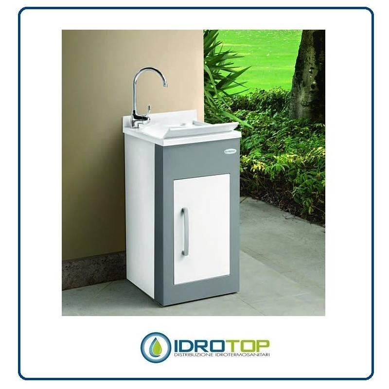 Lavabo In Ceramica Per Esterno.Lavatoio Per Esterno Still Montegrappa Mobile In Alluminio Vasca E