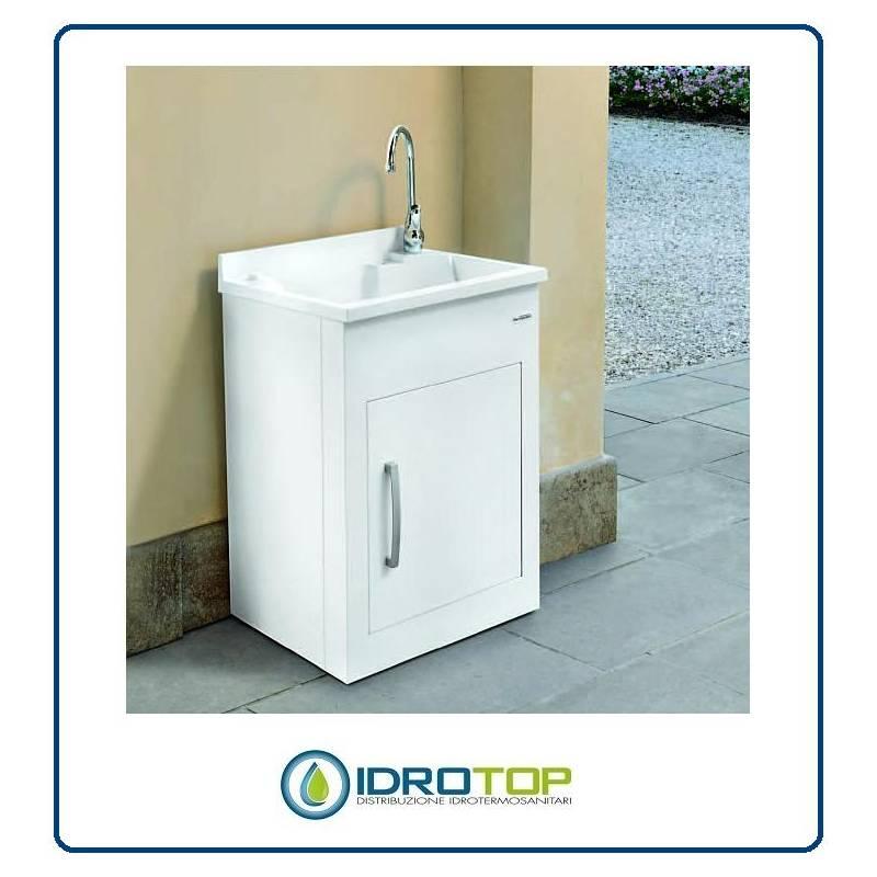 Lavatoio per esterno still montegrappa mobile in alluminio vasca e asse termoplastico - Mobile da esterno ...