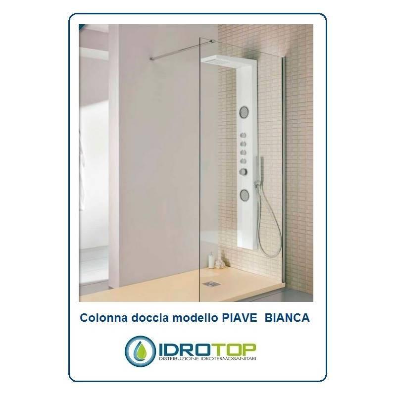 Colonna doccia PIAVE colore BIANCO Idromassaggio Multifunzione Miscelatore Termostatico