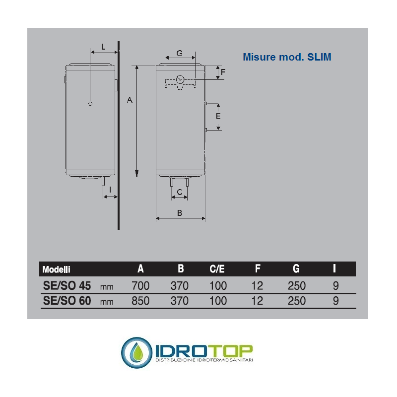 Scaldabagno elettrico slim salvaspazio verticale ideale - Scaldabagno elettrico istantaneo ...