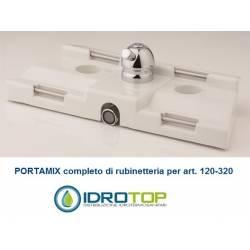 PORTA MIX CON RUBINETTERIA OTTONE RICAMBIO copriwater bidet x articolo 120-320 ORIGINALE