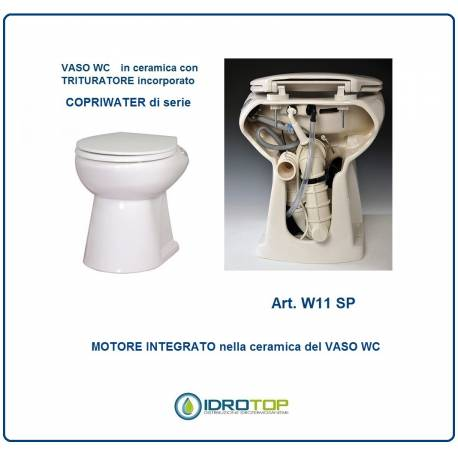 WC IN CERAMICA CON TRITURATORE INTEGRATO art. W11 SP GRUPPO SANITRIT