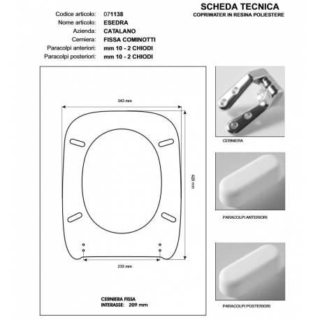 Copriwater sedile esedra rosso bertocci cerniera cromo for Esedra water
