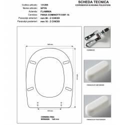 Copriwater Flaminia  SPIN NERO  Cerniera Cromo-Sedile-Asse Wc