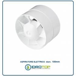 Aspiratore diam.100 Elettrico per Canale o Sopra Cappa Tiraggio Aspirazione Cappa