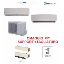 Climatizzatore Dual multisplit 9+9 inverter+accessori-condizionatore