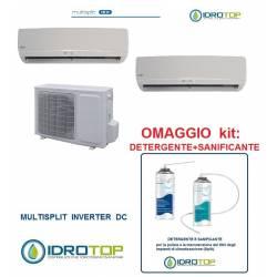 Climatizzatore Dual multisplit 9+12 inverter+kit pulizia condizionatore