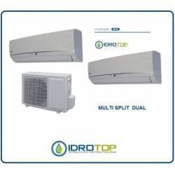 Climatizzatore Dual multisplit 9+9 inverter pompa di calore
