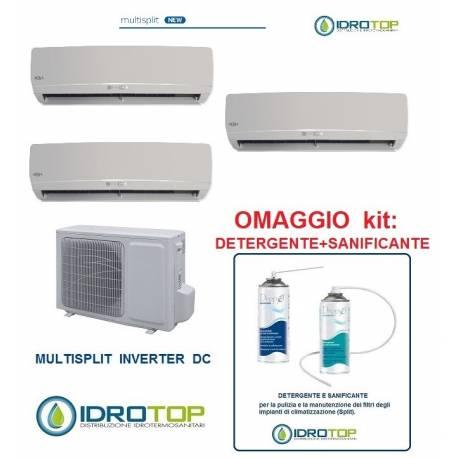 Climatizzatore trial multisplit 9+9+9 inverter pompa di calore con accessori sanitiz