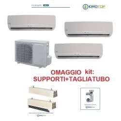 Climatizzatore trial multisplit 9+9+12 inverter pompa di calore con accessori