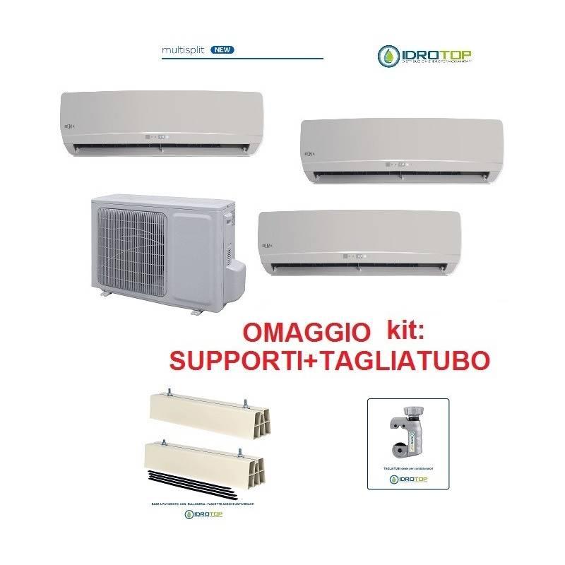 Climatizzatore trial multisplit 9+9+12 inverter pompa di calore con accessori condizionatore