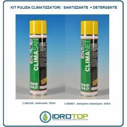 Prodotti per la Pulizia dei climatizzatori condizionatori KIT 600ml: n1 SANITIZZANTE+n1 DETERGENTE facot